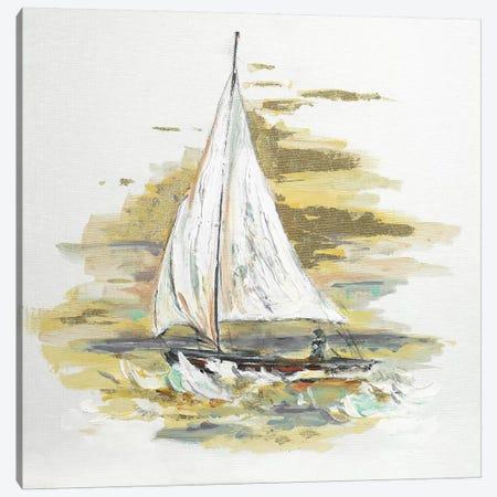Sailing At Sunset I Canvas Print #PPI539} by Patricia Pinto Canvas Wall Art