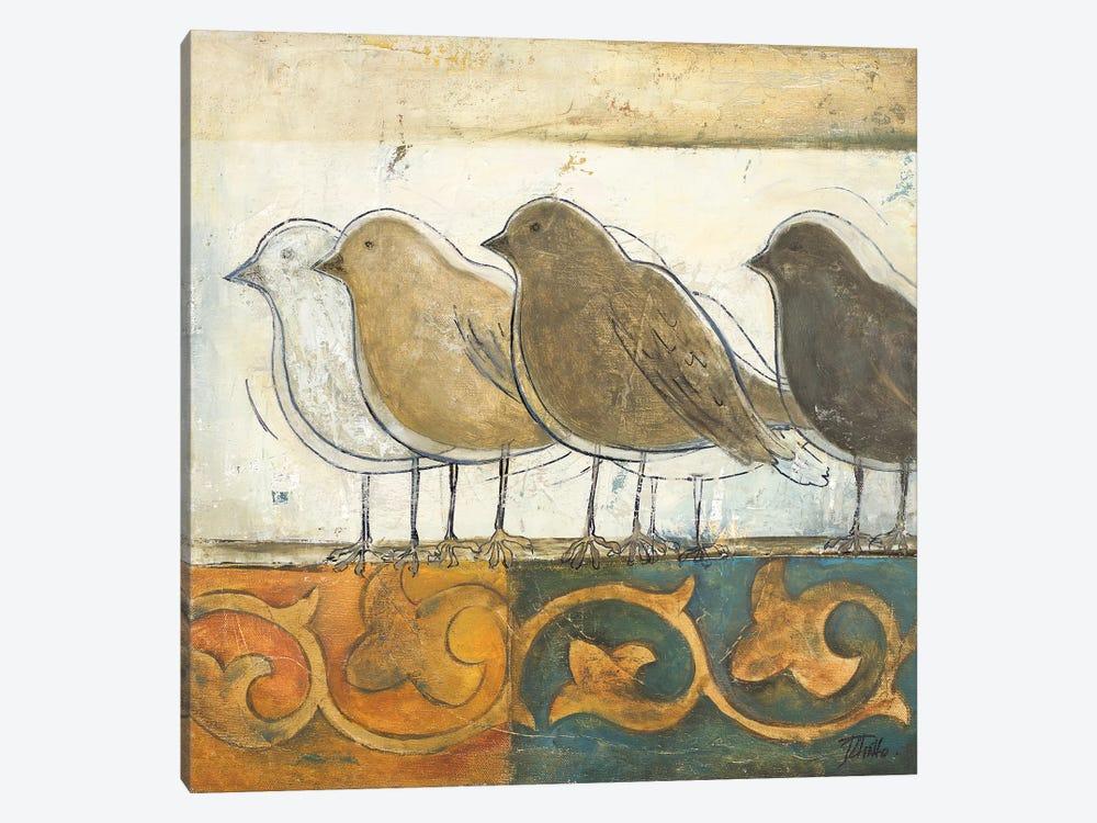 Birds on Damask I by Patricia Pinto 1-piece Art Print