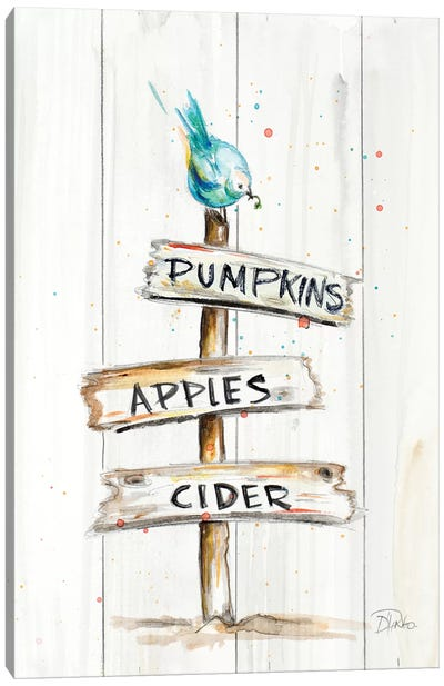 Sign Of Fall Canvas Art Print