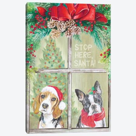 Stop Here Santa Canvas Print #PPI558} by Patricia Pinto Canvas Art