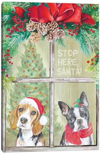 Stop Here Santa Canvas Art Print
