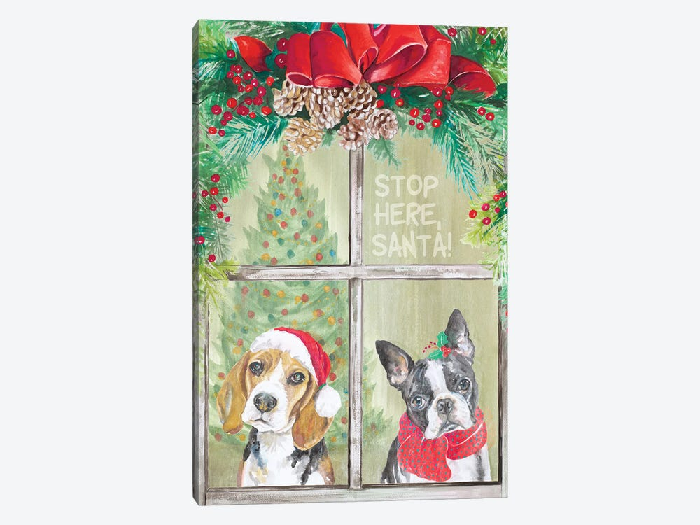 Stop Here Santa by Patricia Pinto 1-piece Canvas Art