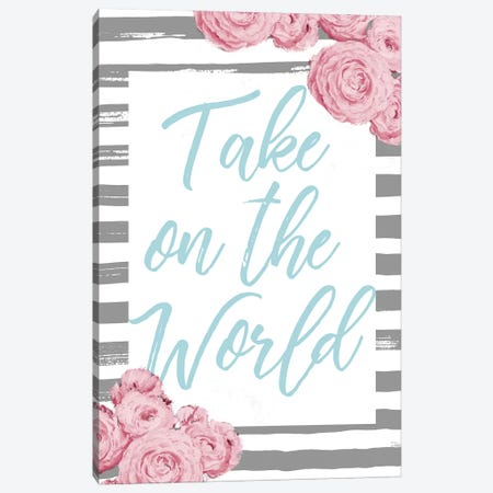 Take On The World Canvas Print #PPI563} by Patricia Pinto Canvas Art Print