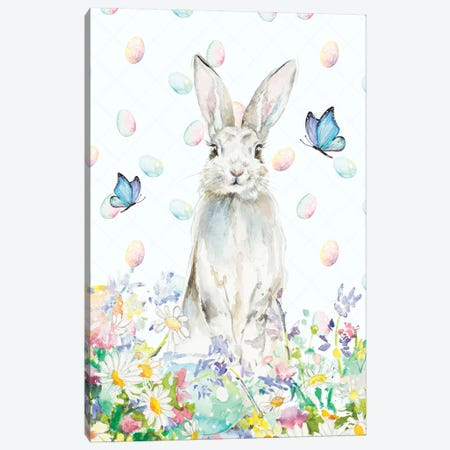 Tall Easter Bunny Canvas Print #PPI564} by Patricia Pinto Canvas Art