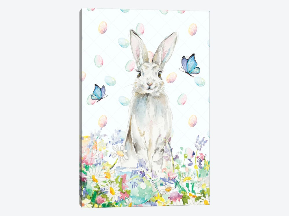 Tall Easter Bunny by Patricia Pinto 1-piece Canvas Art Print