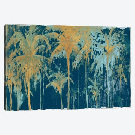 Teal And Gold Palms Canvas Print #PPI565} by Patricia Pinto Canvas Art