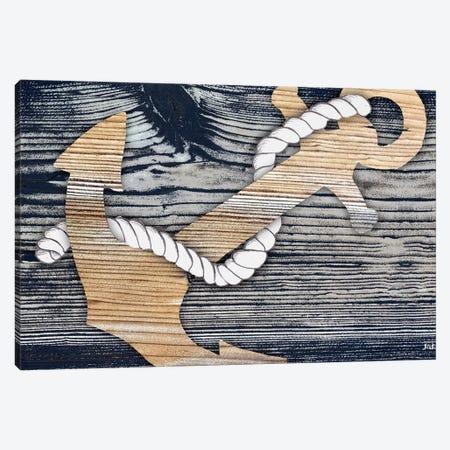 The Gold Sea Anchor Canvas Print #PPI567} by Patricia Pinto Canvas Art