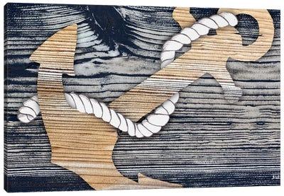 The Gold Sea Anchor Canvas Art Print