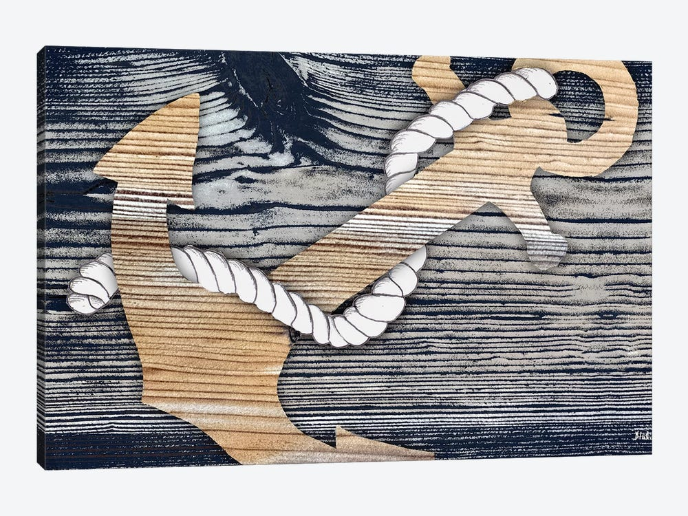 The Gold Sea Anchor by Patricia Pinto 1-piece Canvas Art