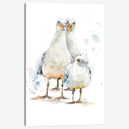 The Happy Family Canvas Print #PPI568} by Patricia Pinto Canvas Art Print