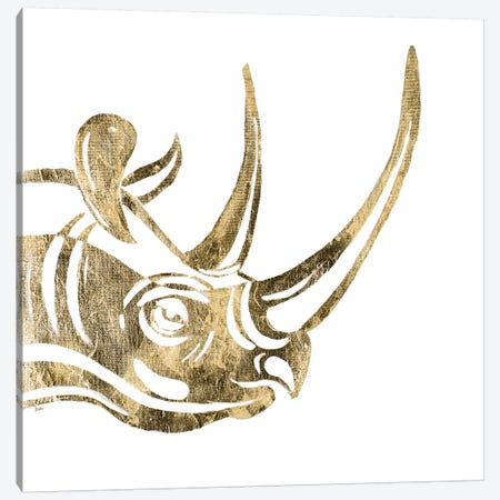 The Rhino Canvas Print #PPI571} by Patricia Pinto Canvas Wall Art
