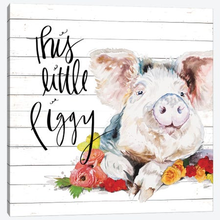 This Little Piggy Canvas Print #PPI572} by Patricia Pinto Canvas Wall Art