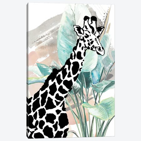 Tropical Giraffe Canvas Print #PPI575} by Patricia Pinto Art Print