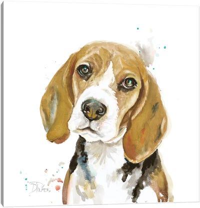 Watercolor Beagle Canvas Art Print