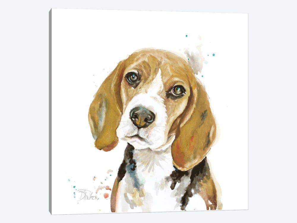 Watercolor Beagle by Patricia Pinto 1-piece Canvas Print
