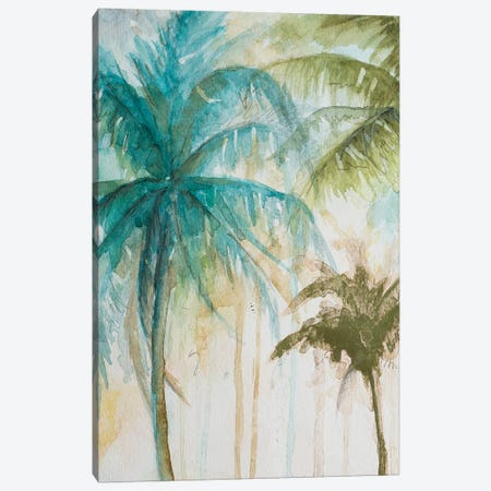 Watercolor Palms In Blue I Canvas Print #PPI580} by Patricia Pinto Art Print