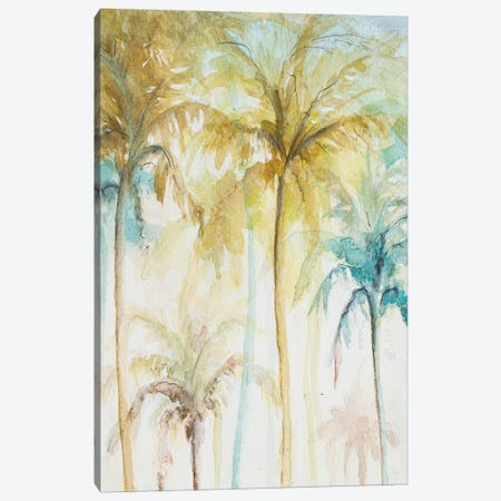 Watercolor Palms In Blue II Canvas Print #PPI581} by Patricia Pinto Canvas Print