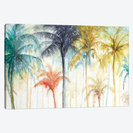 Watercolor Summer Palms Canvas Print #PPI582} by Patricia Pinto Art Print