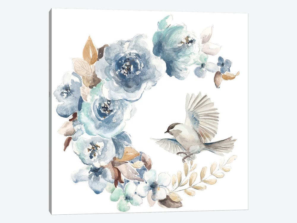 Floral with Bird I by Patricia Pinto 1-piece Art Print