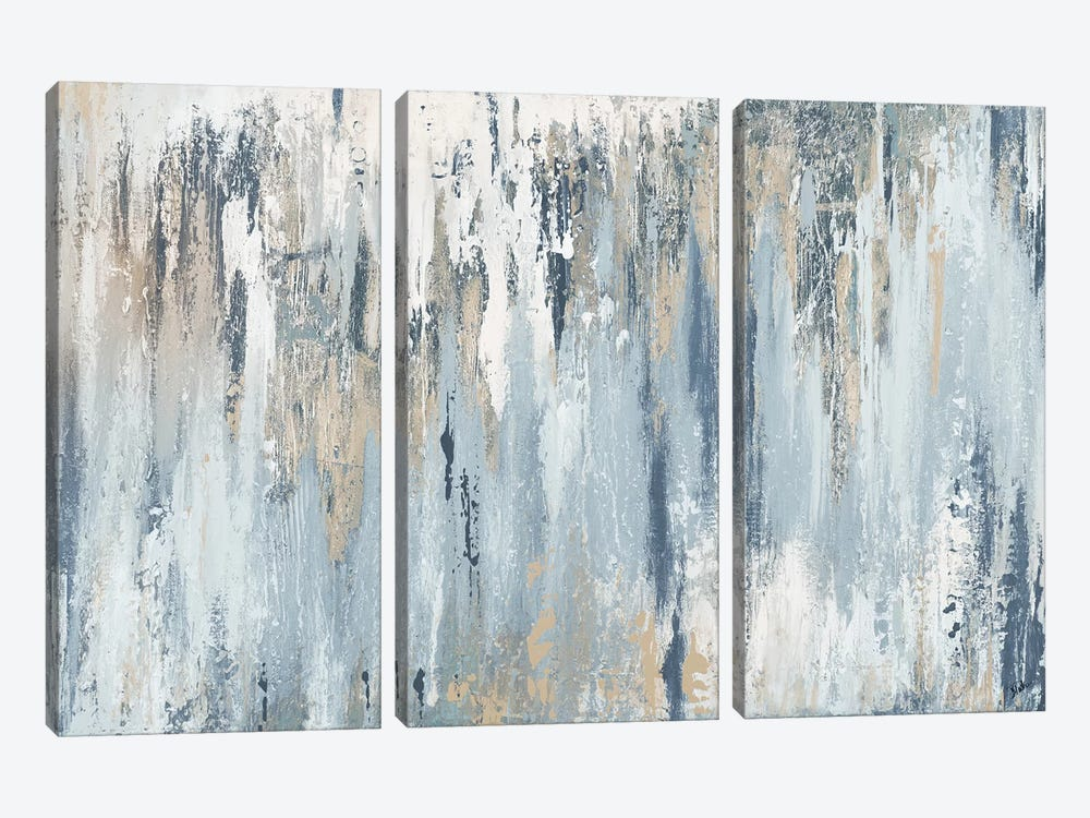 Blue Illusion by Patricia Pinto 3-piece Canvas Wall Art