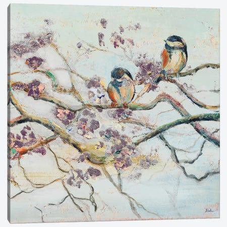 Spring Bird on Branch Canvas Print #PPI615} by Patricia Pinto Canvas Artwork