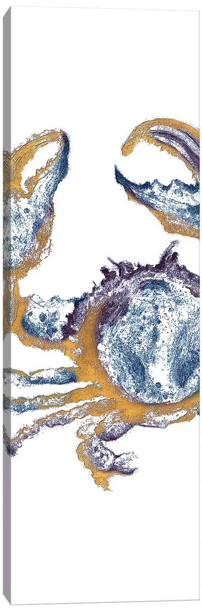 Surf Side Golden Blue Crab Canvas Art Print