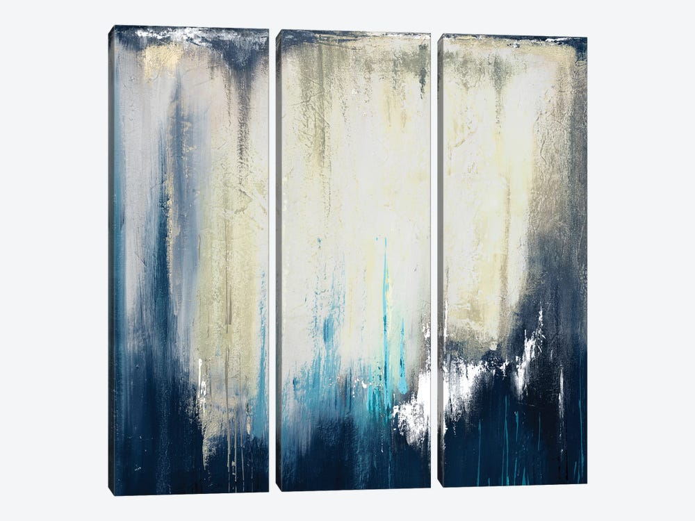Blue Illusion II by Patricia Pinto 3-piece Canvas Artwork