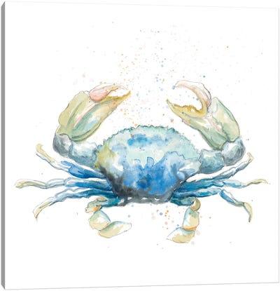 Cangrejo Azul Square Canvas Art Print