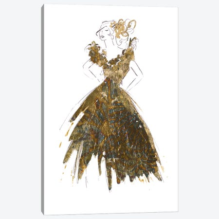 Fashion in Gold I Canvas Print #PPI643} by Patricia Pinto Canvas Artwork