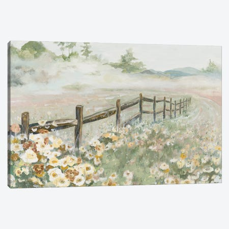 Fence with Flowers Canvas Print #PPI645} by Patricia Pinto Art Print