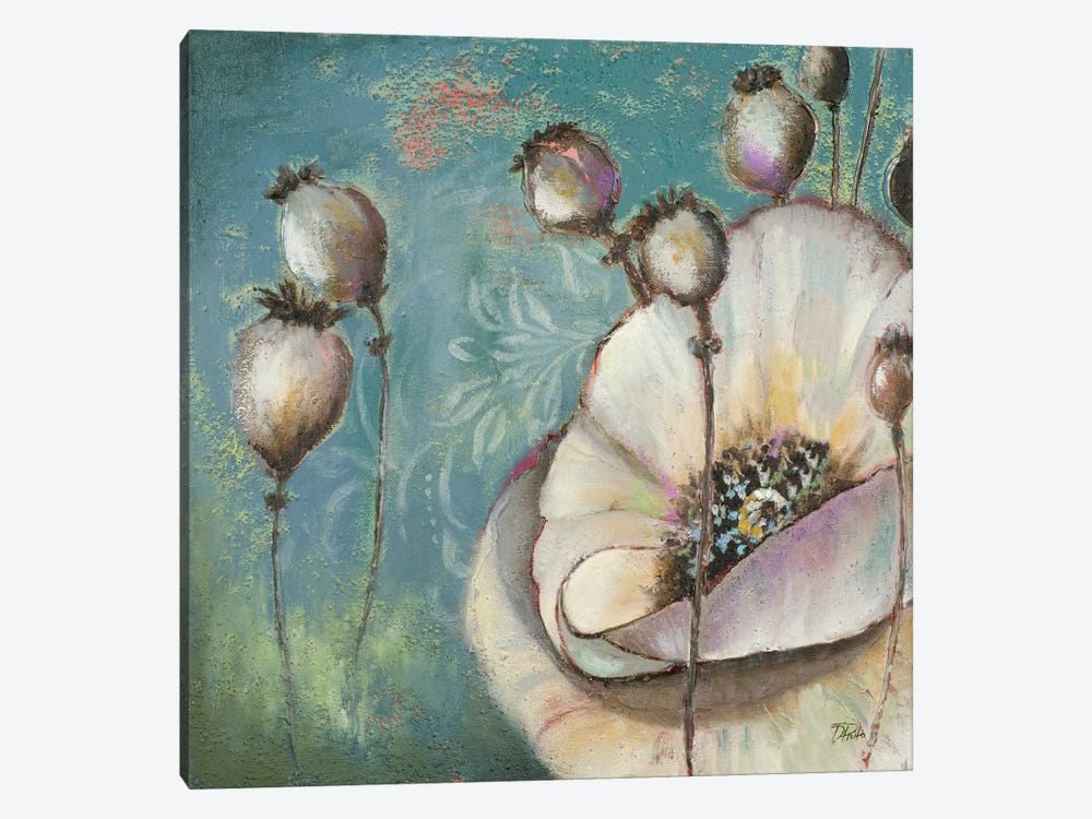 Blue Poppies I by Patricia Pinto 1-piece Canvas Art