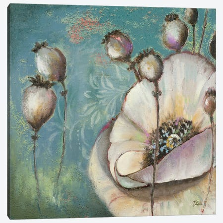Blue Poppies I 3-Piece Canvas #PPI64} by Patricia Pinto Canvas Artwork