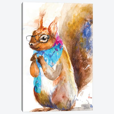 Hipster Squirrel Canvas Print #PPI656} by Patricia Pinto Canvas Art