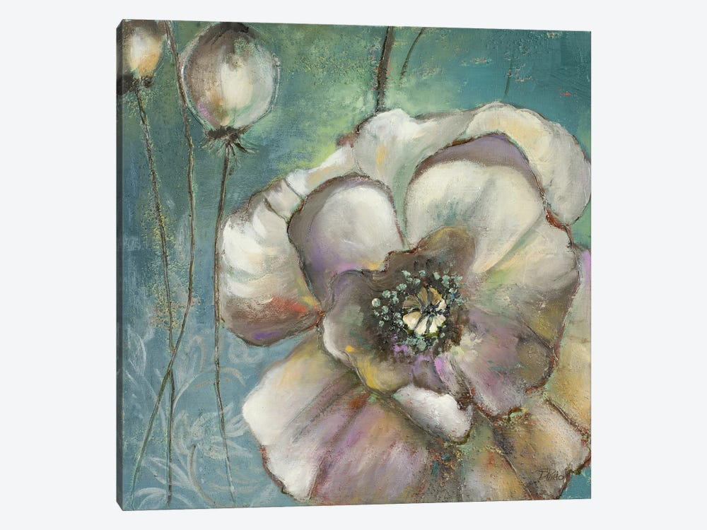 Blue Poppies II by Patricia Pinto 1-piece Canvas Print
