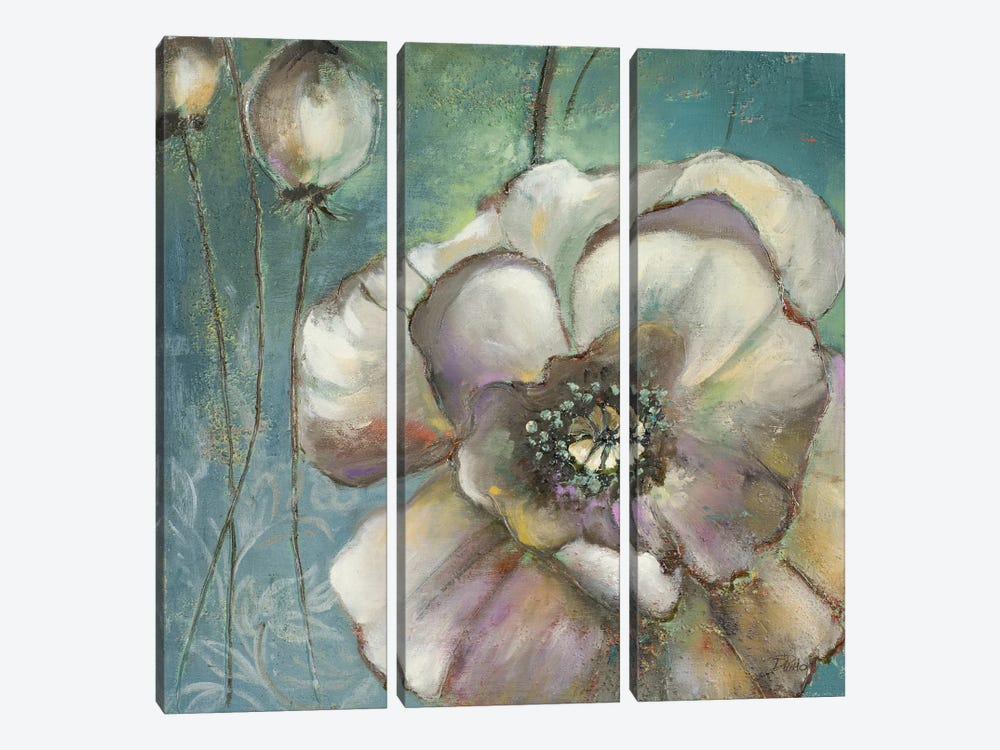 Blue Poppies II by Patricia Pinto 3-piece Canvas Art Print