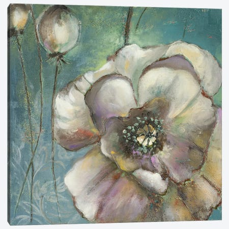 Blue Poppies II 3-Piece Canvas #PPI65} by Patricia Pinto Canvas Art