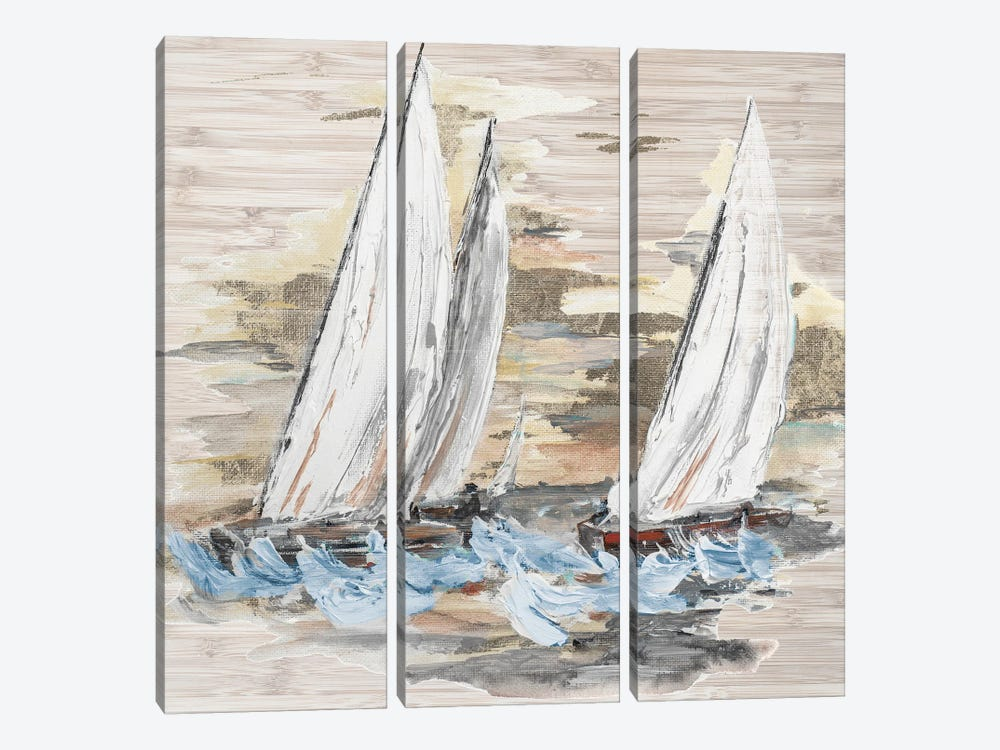 Rough Sailing II by Patricia Pinto 3-piece Art Print