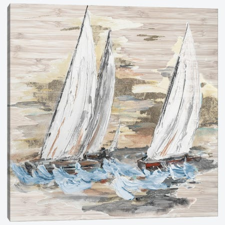 Rough Sailing II Canvas Print #PPI668} by Patricia Pinto Canvas Wall Art