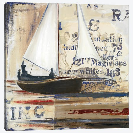 Blue Sailing Race I Canvas Print #PPI66} by Patricia Pinto Canvas Art