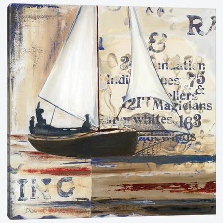 Blue Sailing Race I Canvas Print #PPI66} by Patricia Pinto Canvas Art