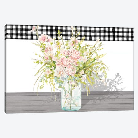 Spring Bouquet in a Glass Jar Canvas Print #PPI671} by Patricia Pinto Canvas Print