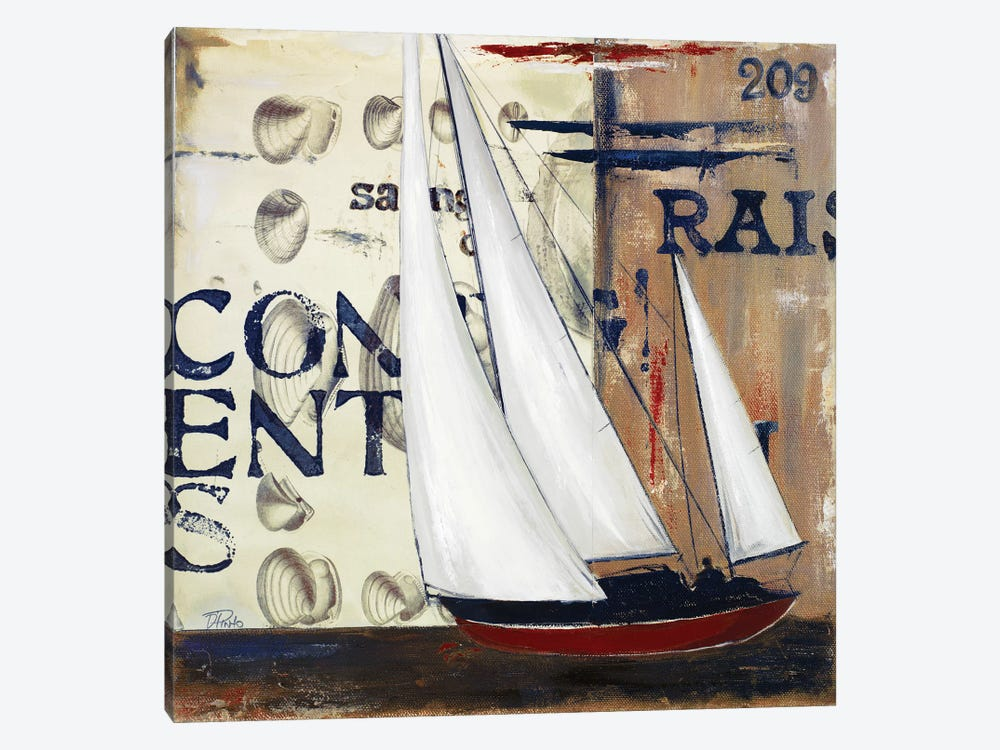 Blue Sailing Race II by Patricia Pinto 1-piece Canvas Print