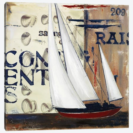 Blue Sailing Race II Canvas Print #PPI67} by Patricia Pinto Canvas Artwork