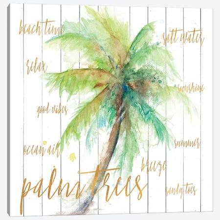 Vacation Palm Canvas Print #PPI682} by Patricia Pinto Canvas Artwork