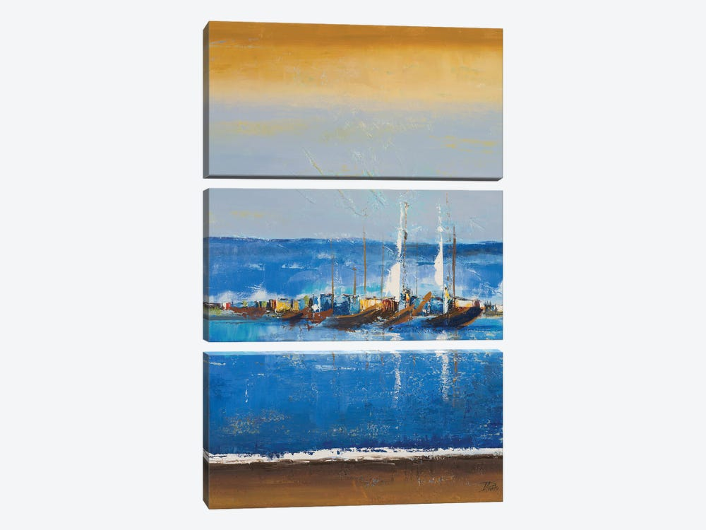 Blue Ocean I by Patricia Pinto 3-piece Canvas Wall Art