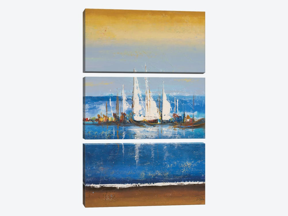 Blue Ocean II by Patricia Pinto 3-piece Canvas Print