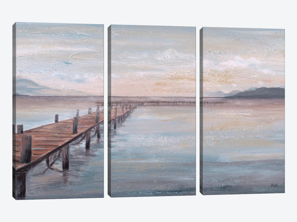 Calm Placid Lake by Patricia Pinto 3-piece Canvas Wall Art
