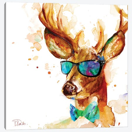 Cool Deer Canvas Print #PPI688} by Patricia Pinto Canvas Art