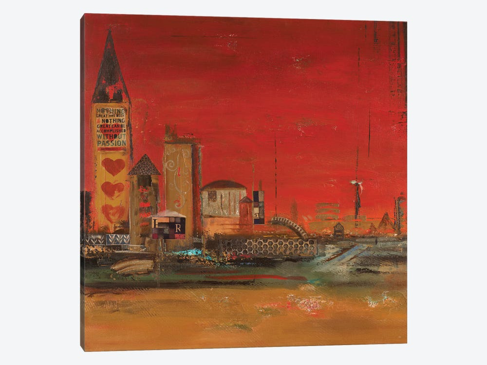 Crazy City II by Patricia Pinto 1-piece Canvas Wall Art