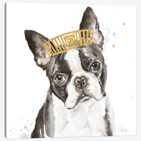 French Bulldog With Crown Canvas Print #PPI694} by Patricia Pinto Canvas Art